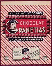 PUB EMBALLAGE CHOCOLAT - RANETIAS Mon ESCOFFIER ST ETIENNE