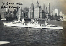 ROBERT P BUNAI Signed 12X8 Photo USS INDIANAPOLIS Survivor COA