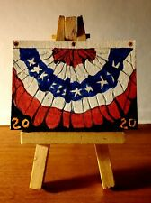 Aceo original painting Happy 4th 2020