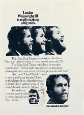 Loudon Wainwright Iii 1970s Press, Promo Ads, Media Clippings Collection