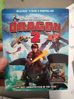 How To Train Your Dragon 2 (Blu Ray & DVD Combo, 2-Disc set) with Slipcover