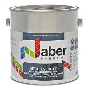 2,5 L Metallschutzlack Rostschutz mit Grundierung RAL 9002 Grauweiss Seidenglanz