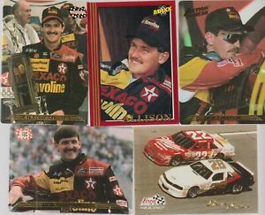 (5) card Davey Allison mixed lot, NASCAR legend