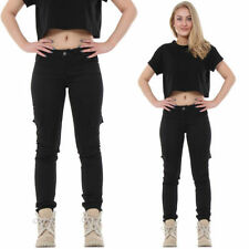 Cotton Slim, Skinny, Treggings Mid 32L Trousers for Women