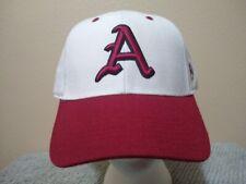 Arkansas Razorbacks White Top of the World Memory Fit Hat Size 7 3/8