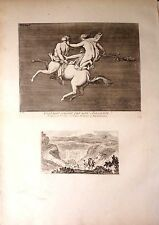 Italy/ Italy, Paintings of Herculaneum. Centaur and bacchante. Barbault, 1761