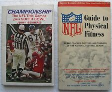 (2) Books: 1965 NFL Guide To Physical Fitness & 1970 NFL Championship Games