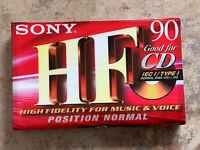 Sony HF90 Audio Cassette Tape New & Sealed