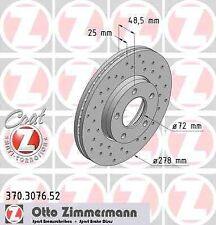 Disque de frein avant ZIMMERMANN PERCE 370.3076.52 MAZDA 3 A trois volumes BK 1.