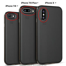 New carbon Fiber Matte Phone Back Case Cover Fit For iPhone X 8 7 Plus Luxury