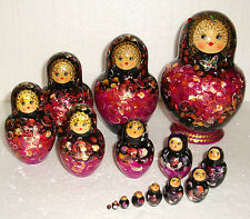 "Beautiful Russian Nesting Doll ~15pc~7""~GORGEOUS~MADE IN RUSSIA~WITH A GIFT BAG"