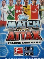 Topps Match Attax Bundesliga 14 15 full set alle 456 Karten + binder ohne Limis
