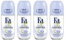 4x Fa Soft & Control Caring Lila Scent Anti-perspirant Deodorant Roll on Women