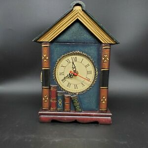 Book Lover's Decorative Wooden 3 Key Box W/Latch Cabinet Tabletop *READ*