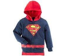 New Caped Superman Full-Zip Fleece Sweatshirt Jacket Hoody Hoodie