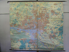 School Wall Map Wall Map Card Hamburg City Plan Map Hanseatic city 220x200 approx 1980