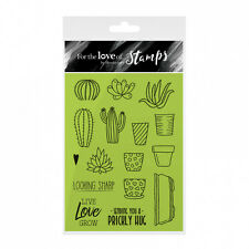 PRICKLY PLANTS (cactus) - For The Love of Stamps Clear Stamp Set - Hunkydory