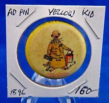 "1896 High Admiral Cigarettes Yellow Kid #15 Advertisin Pin Pinback Button 1 1/4"""