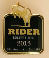 Rider Relief Fund 2013 Bull Riding Charity Pin Badge Rare Vintage (R12)