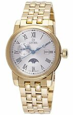 Gevril Men's 2528 CORTLAND Gold tone Moon phase Limited Edition Swiss watch