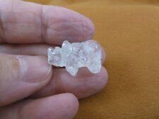 (Y-Rhi-520) little white Rhinoceros I love little Rhino Rhinos gemstone Figurine