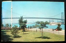 1950s Ambassador Bridge, Windsor, Ontario Canada – Detroit Michigan