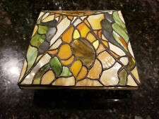 stained glass fence post covers