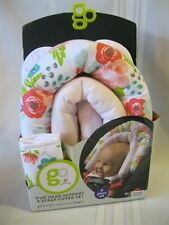 New Go By Goldbug Floral Duo Head Support And Strap Cover Set