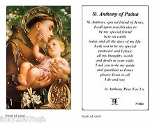 St Anthony Of Padua Prayer Card Religious Verse Holy Card