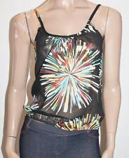 SUPRE Designer Blouson Scoop Neck Chiffon Cami Top Size XXS BNWT #SK72