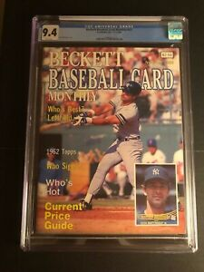 Vintage Beckett Baseball Card Monthly #23 - Don Mattingly - graded CGC 9.4