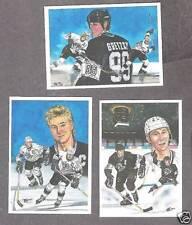 "1991 Gretzky ""99 in '91"" ArtPrints Set of 3 Promo Cards"