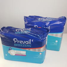 Prevail Breezers  Adult Briefs Diaper Size M and L 34 Counts Ultimate Absorbency