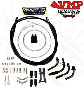 Venhill Motorcycle Push Pull Domino Dual Throttle Cable Kit 1.35 M Long