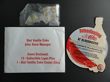 COKE = BLOCKBUSTER VIDEO DIET VANILLA COKE 2002 LAUNCH PROMO ADVERTIZING + PIN