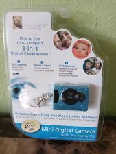Cobalt Blue Innovage Mini 3-in-1 Digital Camera Keyring w/Accessory Kit