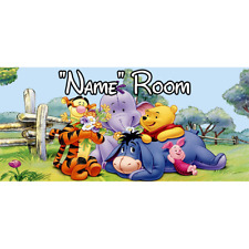 Winnie The Pooh Personalised Bedroom Door Sign / Plaque – Any Text/Name (2)