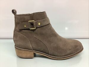 BLONDO LUCA Taupe Suede Leather Waterproof Ankle Boot Size 8.5.✨