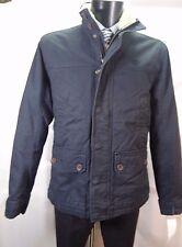 Timberland Blu Navy Giacca imbottita con collo in pelliccia taglia L nuova con etichetta