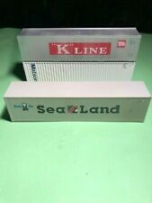 HO Scale Athearn THREE 40' Shipping Containers KLINE, Sealand, Matson
