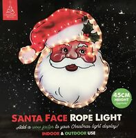 CHRISTMAS WORLD LED SANTA FACE ROPE WINDOW DISPLAY LIGHTS USE INDOOR OR OUTDOOR