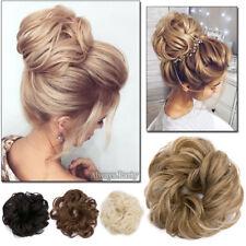 Women Girls Pony Tail Clip in/on Hair Bun Hairpiece Hair Extension Scrunchie FA2