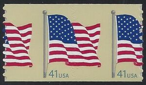 """4188 - Scarce Huge Misperf Error / EFO Right Down Middle """"Flag"""" Mint NH"""