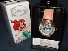 New Disney The Little Mermaid Princess Airel Gem Stone Wrist Watch Collector Box