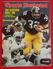 1976 NFL PITTSBURGH STEELERS FRANCO HARRIS RUNS OVER OAKLAND Sports Illustrated