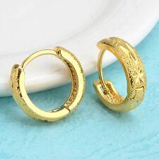 Women's Earrings Hotsale 18k Yellow Gold Filled 15mm Charms Hoops Vogue Jewelry