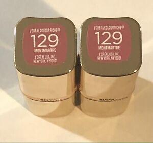 (2) Loreal Colour Riche Satin Lipstick, 129 Montmartre