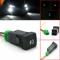 Factory 4-Pole 12V Push Button Switch w/LED Indicator Light For Camry Corolla