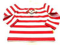 STEIFF treasure island PIRATEN  LANGARMSHIRT,rot gestreift gr. 74-86