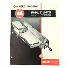 "Vintage 1955 Shopsmith Magna Model 620 ~ 4"" Jointer Owner's Manual"